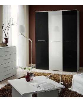 Wardrobe 135c - Black and white wardrobe