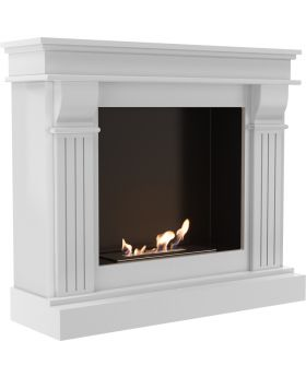 Boise - white traditional design bioethanol fireplace