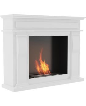 Denton - design white free standing fireplace portal
