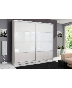 Rome - White sliding door wardrobe