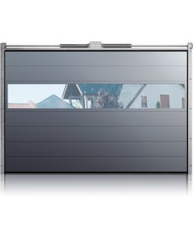 WIS 15 - Garage door with an aluminium panel glazing