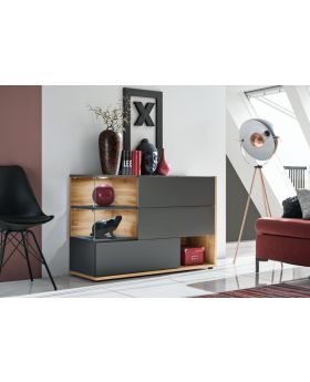 SB Simi - anthracite modern chest of drawers