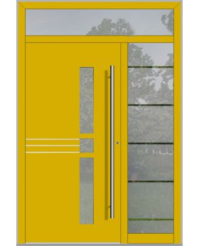LIM door with right and top sidelight (view from the outside)