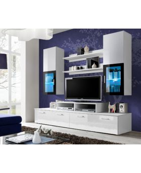 Toledo 1 - white high gloss wall unit