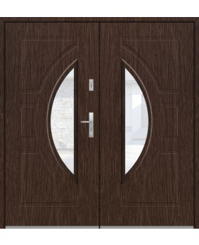 Fargo 10 double - double front entry door