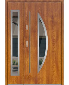 Fargo 22DB - contemporary front door with side panels