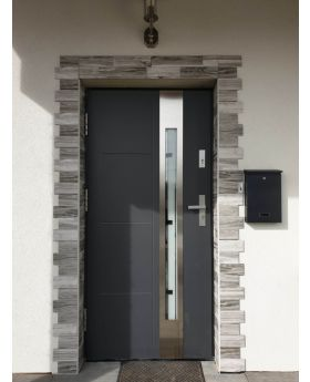 Colour: smooth anthracite; Glass type: milk