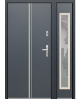 custom configuration - Fargo door with no open right sidepanel (view from the outside)