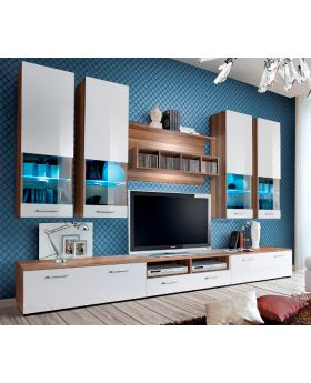 Torino 2 - Plum and white high gloss fronts entertainment center