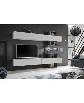 Astok - tv wall unit with shelves