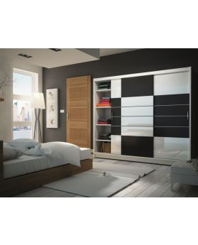 Aloa 250 - black and white storage armoire