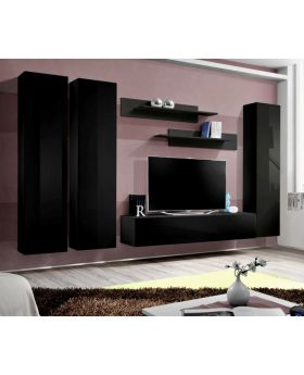 Idea d1 - black wall units for living room