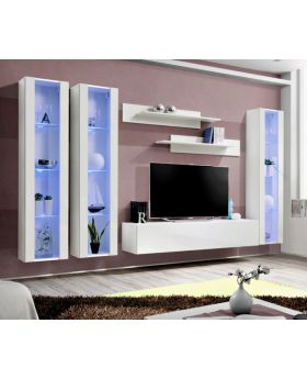 Idea d6 - wall unit with tall tv stand