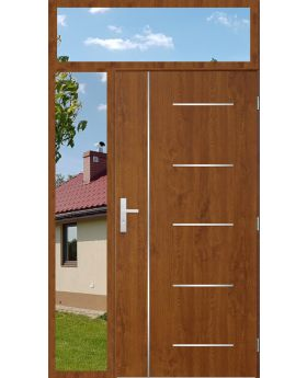 custom configuration - STA door with left and top sidelight (view from the outside)