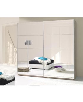 Twist 2 - white mirrored wardrobe