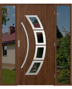 custom configuration - STA door with left and right sidelight (view from the outside)